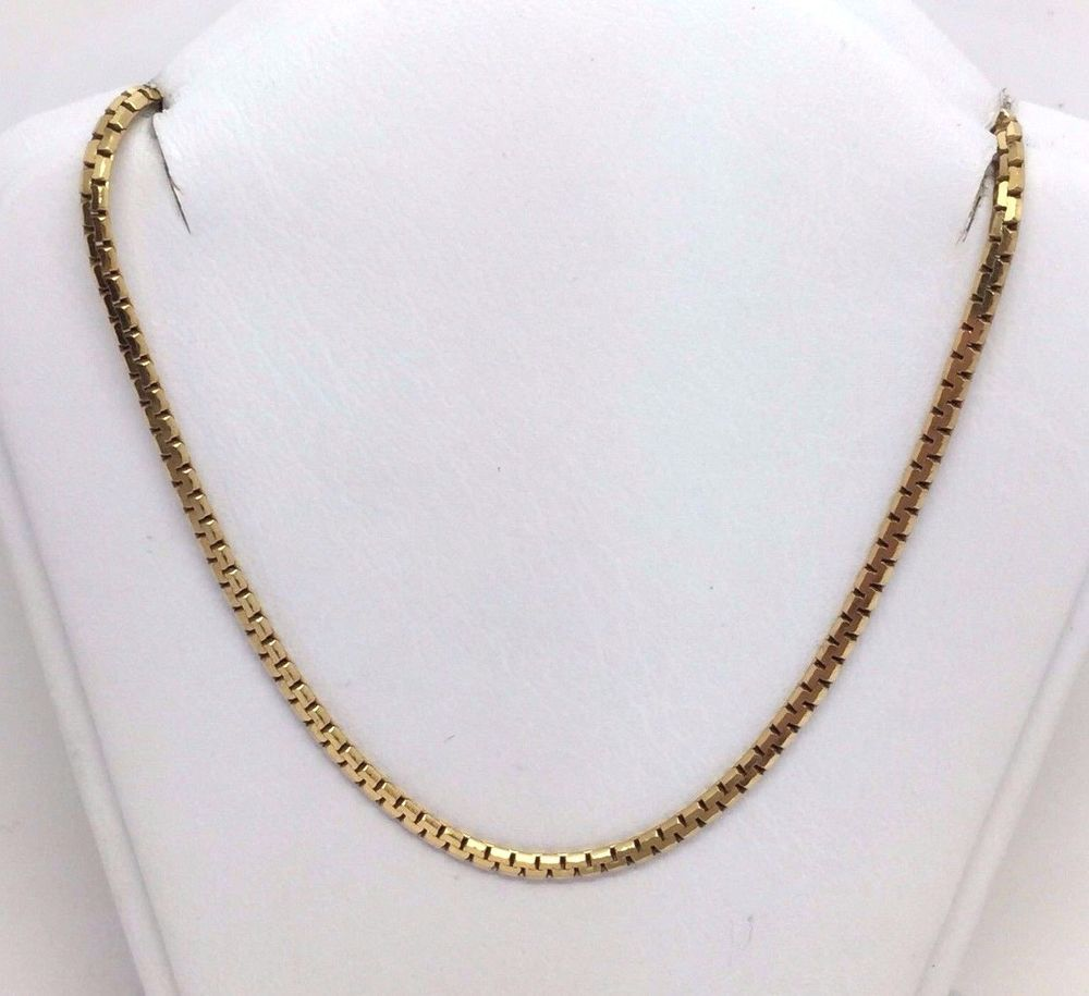 """ITALY 14K YELLOW GOLD SERPENTINE STYLE 1.9 MM 18"""" CHAIN NECKLACE 6.8 GRAMS #Chain"""