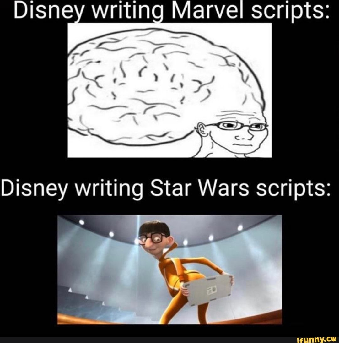 Disney Writing Marvel Scripts Ifunny Funny Relatable Memes Funny Disney Memes Funny Memes