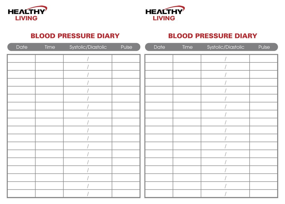 blood pressure print out chart