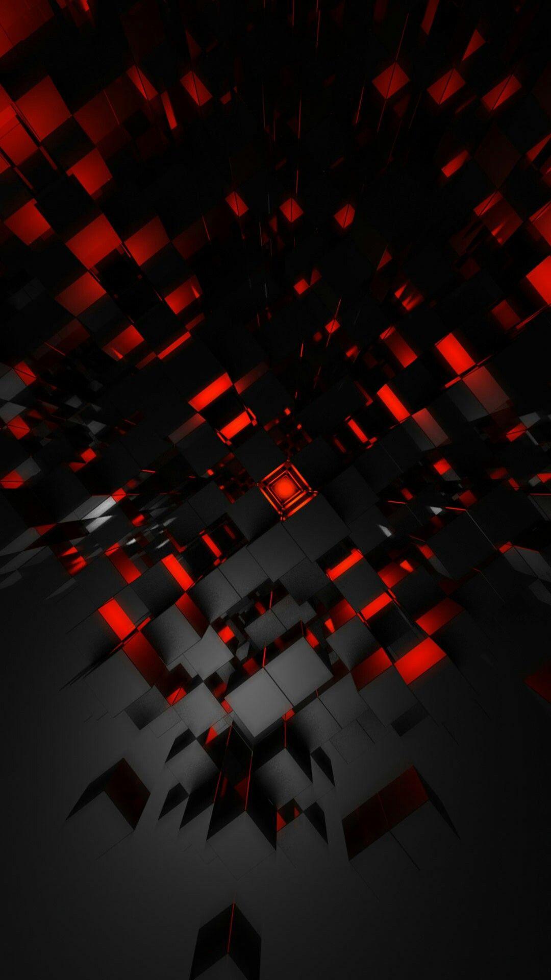 red black . abstract Tło czarne z czerwonym / Background