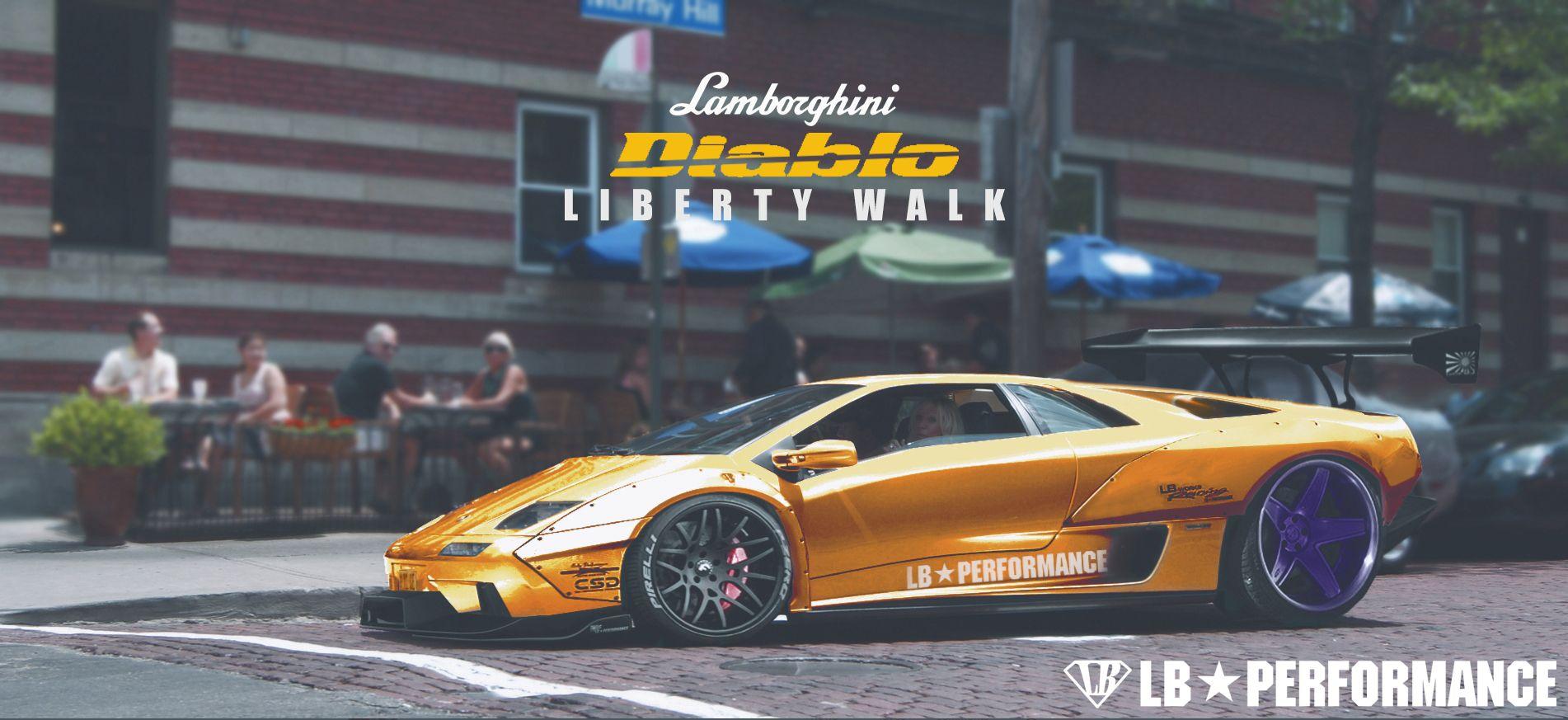 Lamborghini Diablo Liberty Walk By A4 A4 Cars Lamborghini