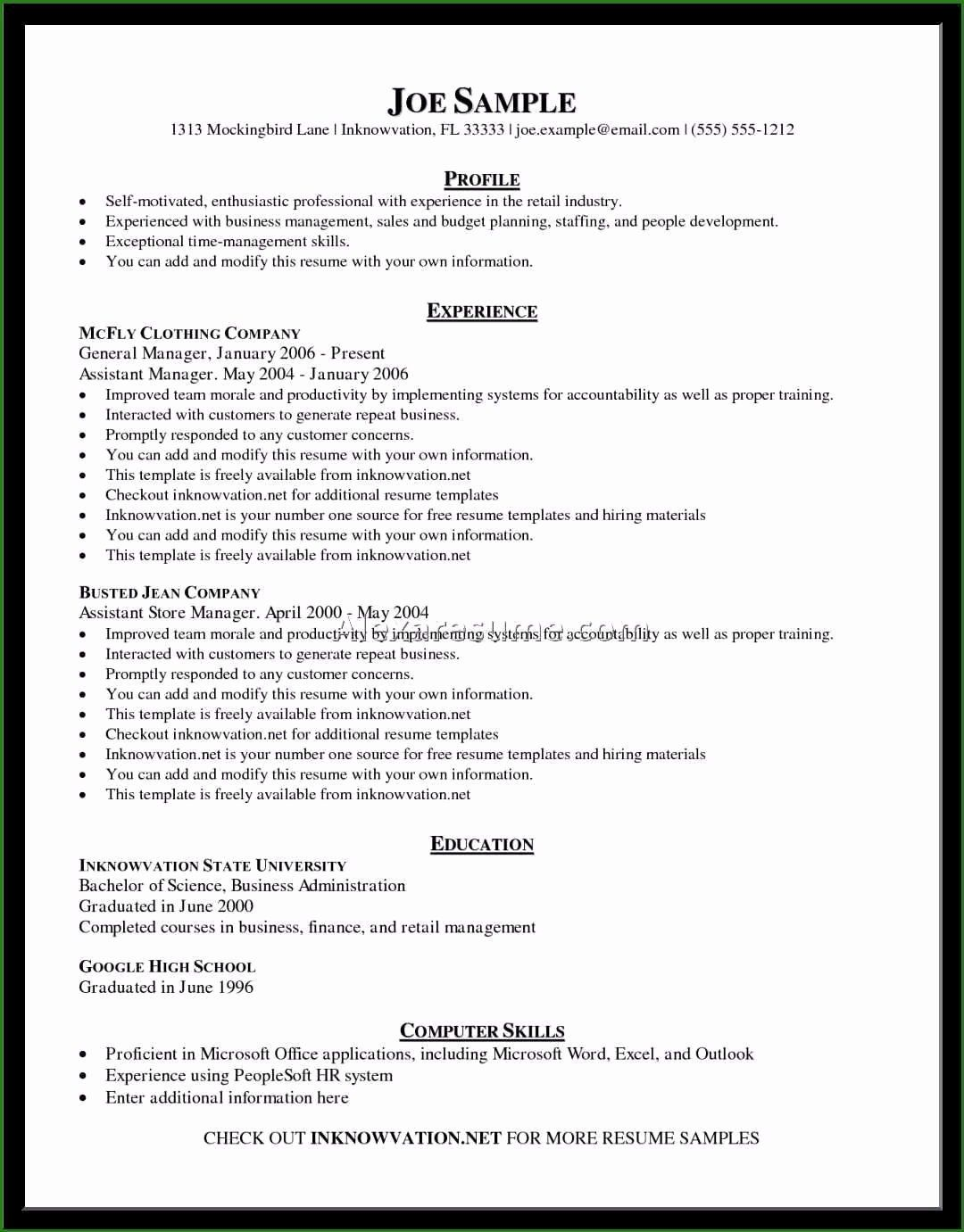 25 Free Resume Templates for Wordpad in 2020 Resume