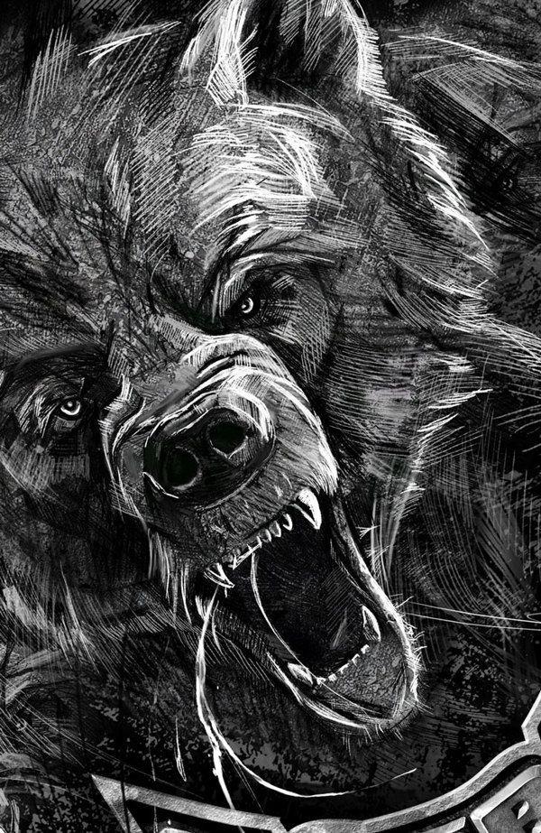 roaring bear - Google-haku   bear refet   Bear tattoos ...