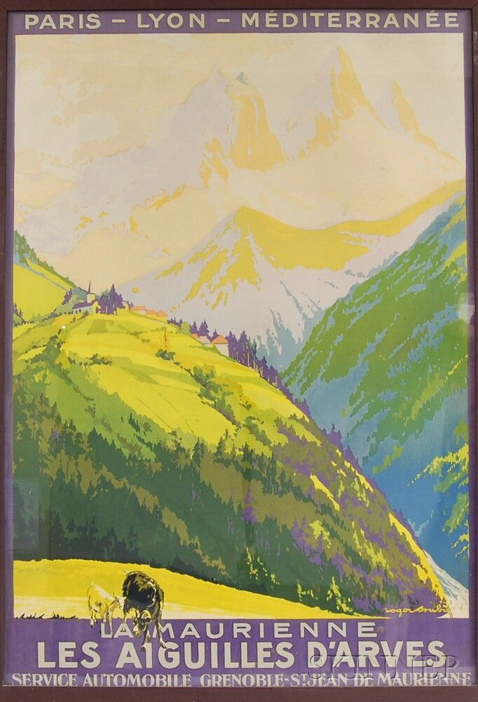 Two Oak-framed French Travel Posters | Sale Number 2722T, Lot Number 1321 | Skinner Auctioneers