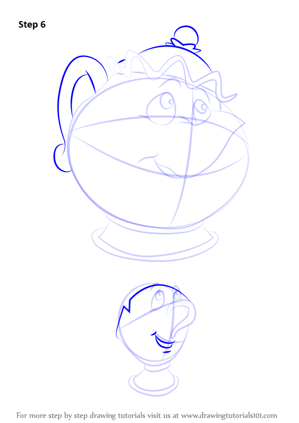 How To Draw Beauty And The Beast Chip