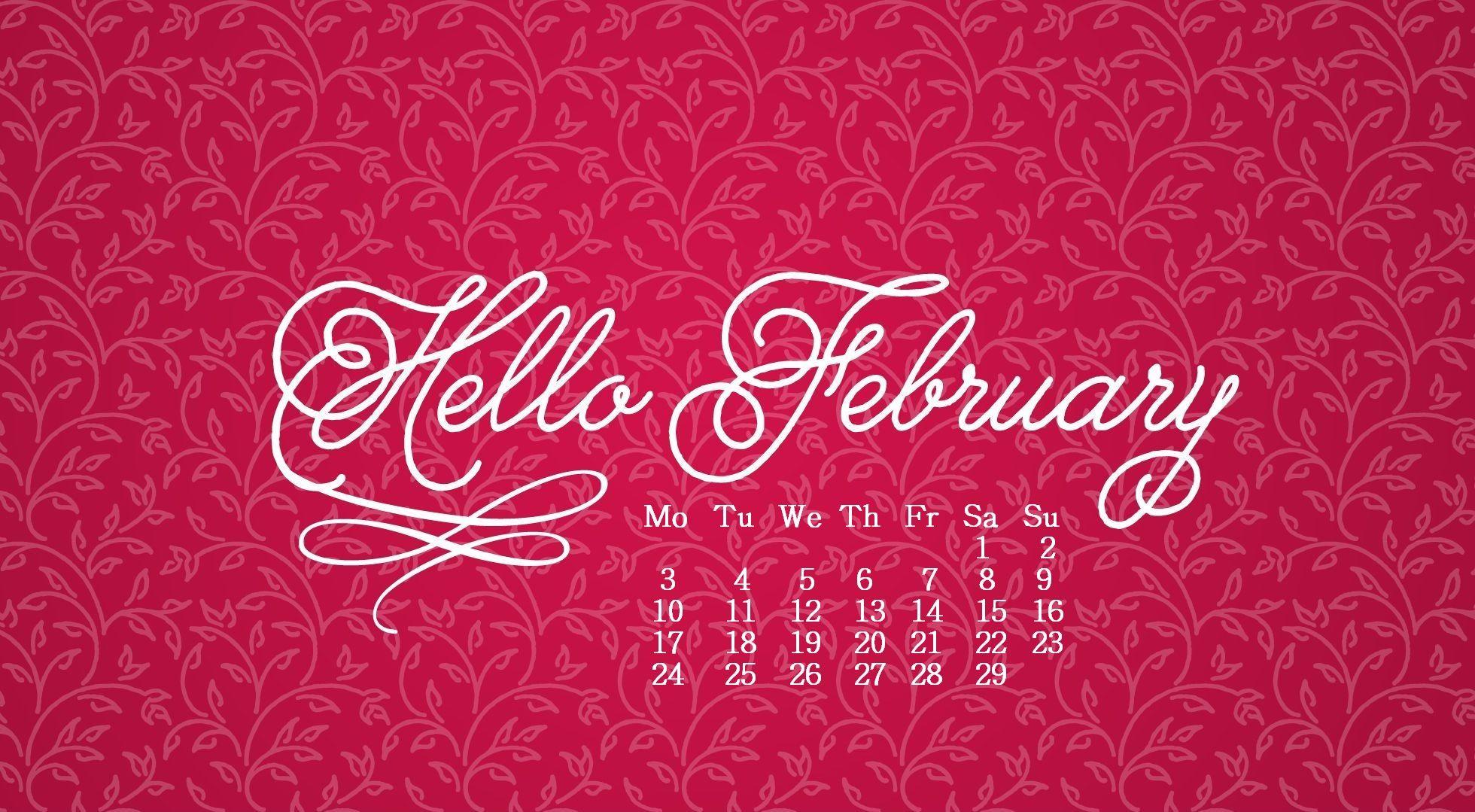 February 2020 Desktop Calendar Wallpaper In 2020 February