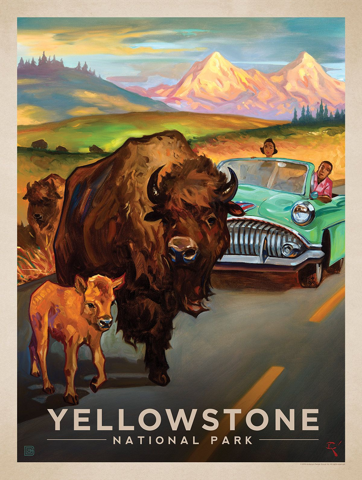 Anderson Design Group Studio Store National Park Posters Vintage Posters Retro Travel Poster