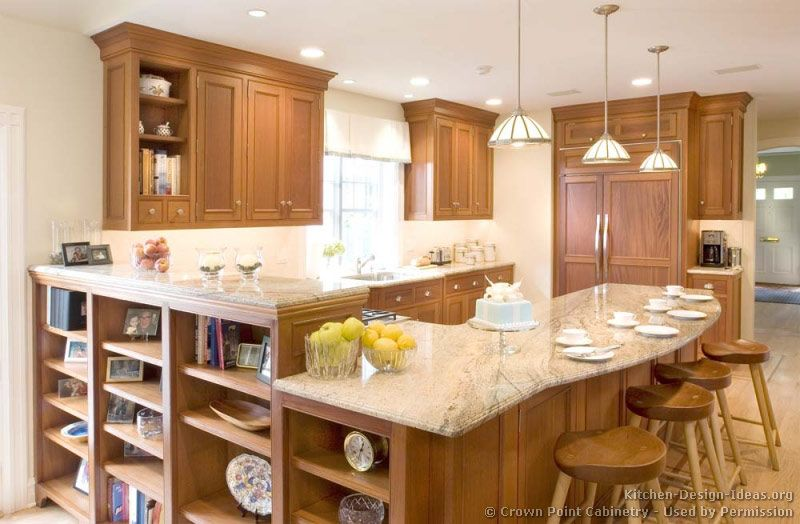 Traditional Light Wood Kitchen Cabinets #125 (Crown Point.com, Kitchen