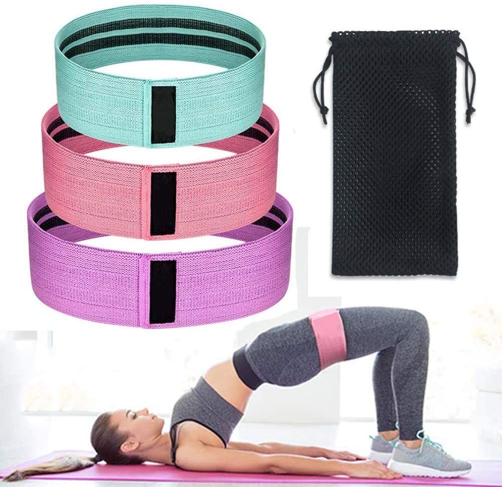 3pcs//set Resistance Bands Butt Exercise Loop Circles Set Legs Glutes Women Bands