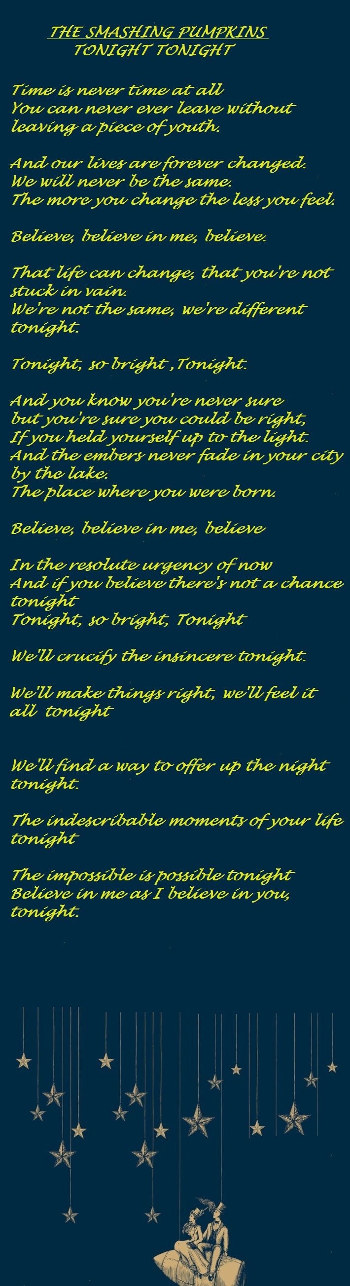 The Smashing Pumpkins Tonight Tonight One Of The Best Songs Of All Time Party Quotes Party Quotes Funny Teenager Quotes