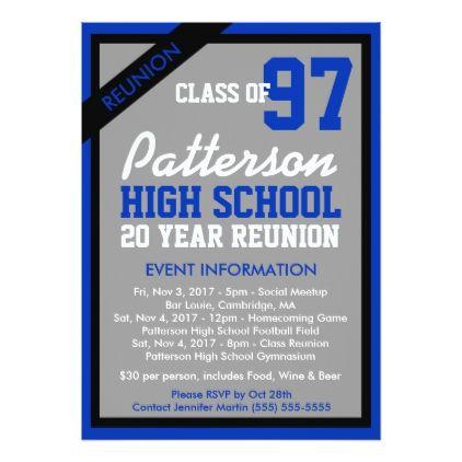Create Your Own Class Reunion Invitation | Class reunion invitations ...