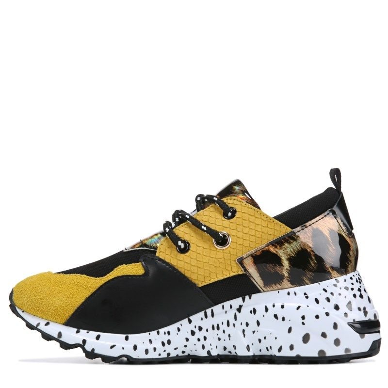 ce288526bf55 Steve Madden Women s Cliff Dad Sneakers (Yellow Multi)