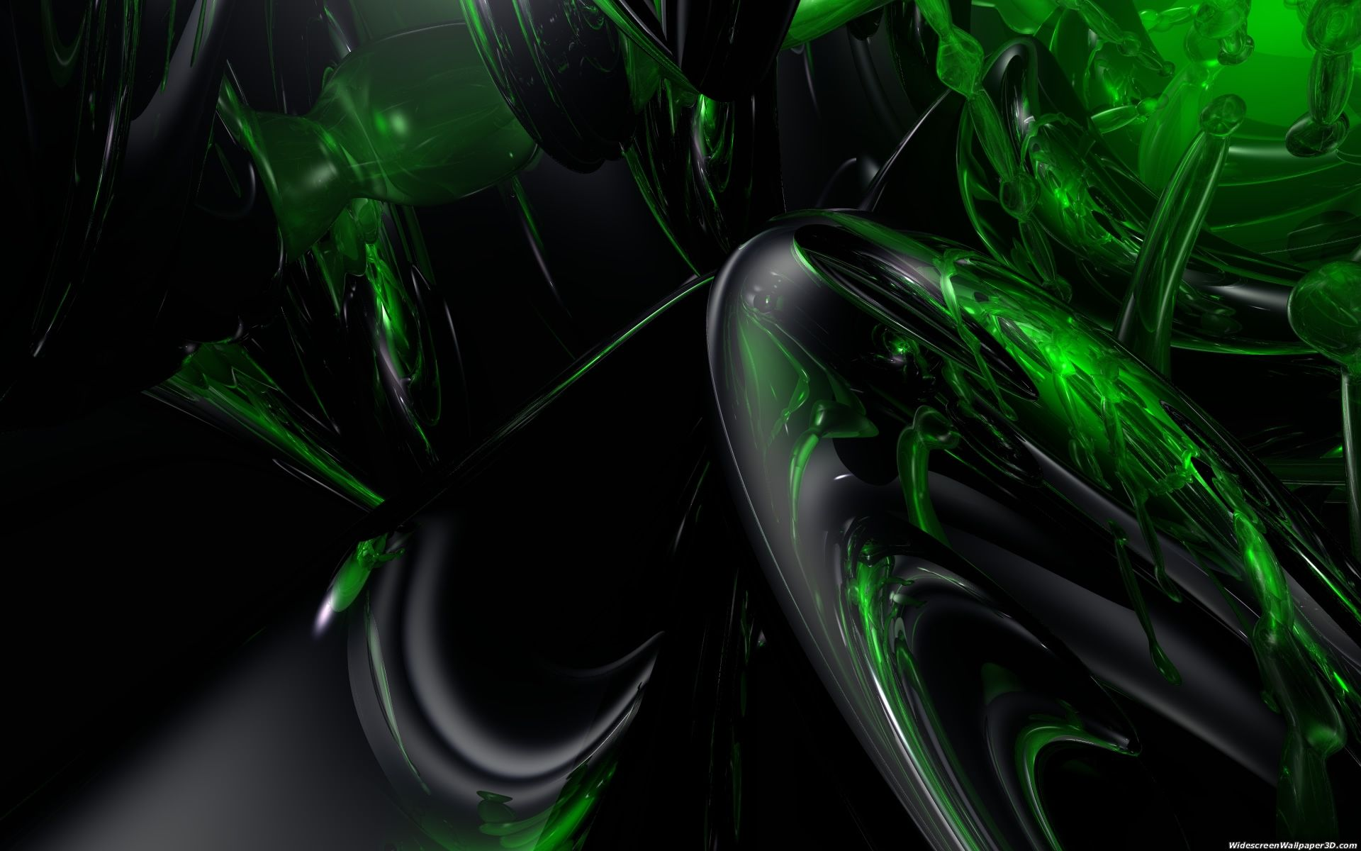 Group Of Green 3D Wallpapers Windows
