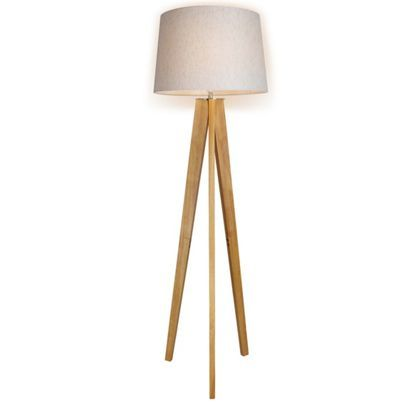 Poppy Tripod Floor Lamp - Natural - Homebase - 50