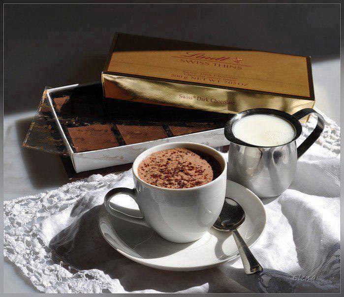 Картинки, открытки кофе и шоколад