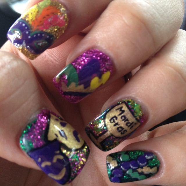Mardi gras nails | My Style | Pinterest | Mardi gras, Nail stuff and ...