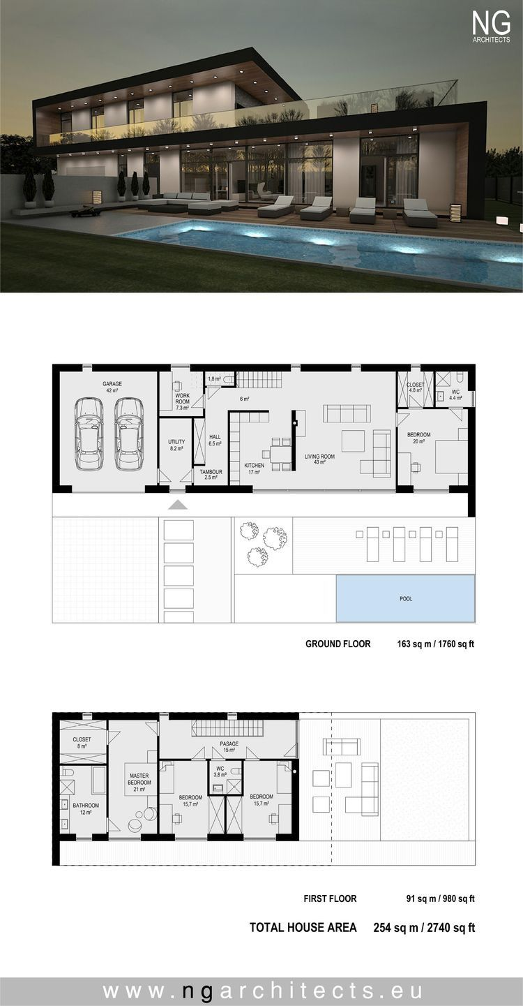 Pin By Nikki Messi On Dream House Contemporary House Plans Architecture Plan Dream House Plans
