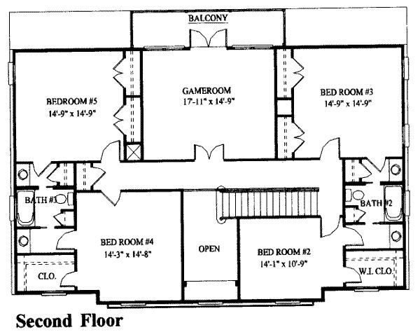 Colonial Style House Plan 4 Beds 4 Baths 3893 Sq Ft Plan 137 229 House Plans Free House Plans Colonial House Plans