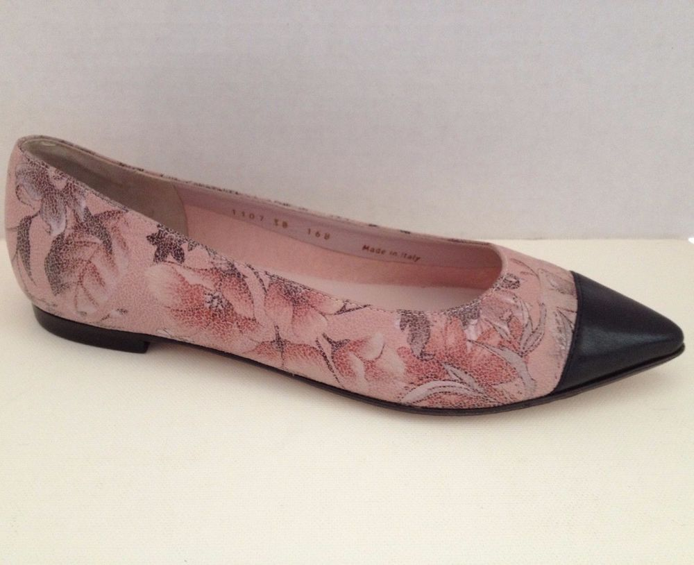 beb082d9f40c3 Ferca 81 #Shoes Womens Size 38 Pink Floral Ballet Flats US 8 M Italy ...