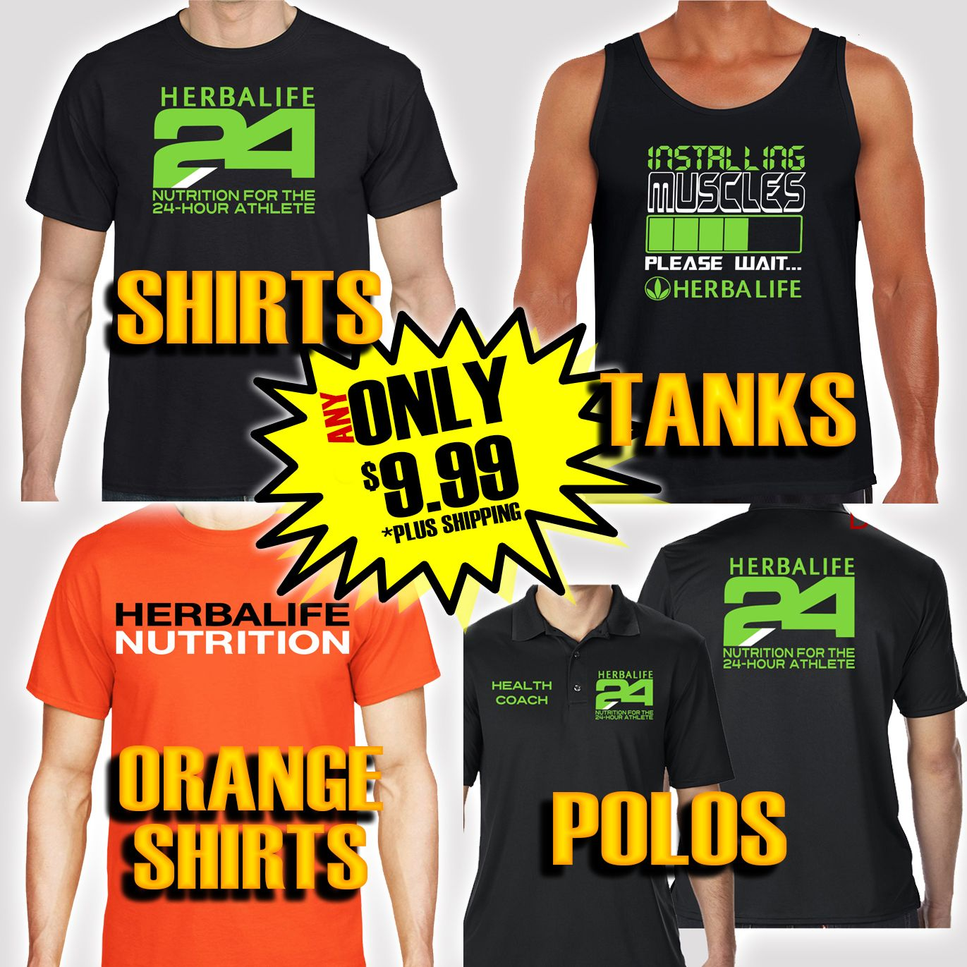 Tanks Polos And Shirts On Sale For Only 999 Herbalife Apparel