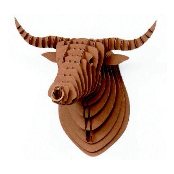 Trophée mural tête de taureau carton bull crembo | Trophées ...