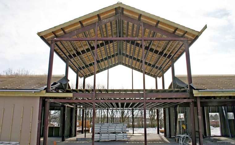 The Interior Steel Structure Of The Kodiak Steel Homes Aspen Model
