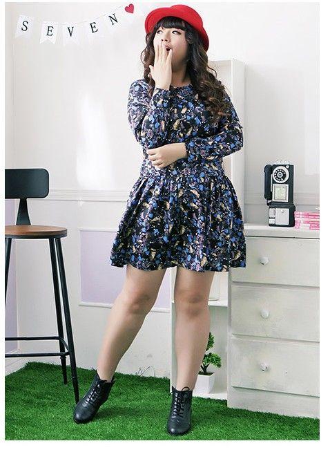 Plus size asian style dress