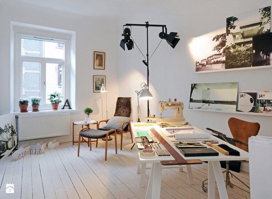 Gabinet Styl Skandynawski Homebookpl Domowe Biuro Home