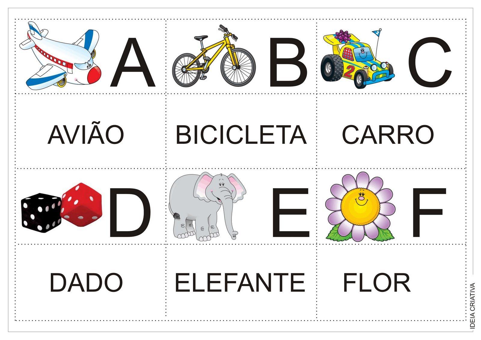 Fabuloso Alfabeto Jogo da Memória Colorido Para recorte após impressão  NJ53
