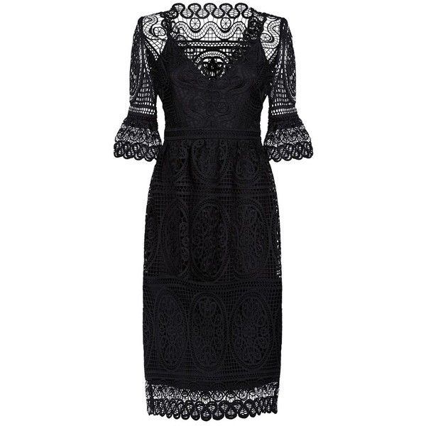 Temperley London Titania Lace Sleeved Dress 1 205 Liked On Polyvore Featuring Dresses Boho Summer Dresses Designer Evening Dresses Lace Dress With Sleeves