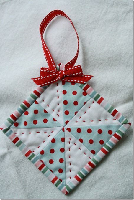 A Sweet Little Ornament to Make Up Quickly - Quilting Digest