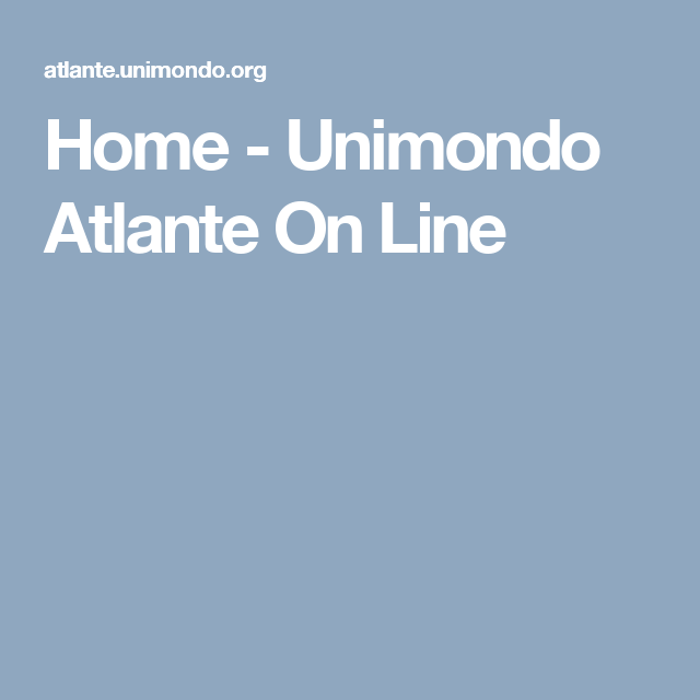 Home - Unimondo Atlante On Line