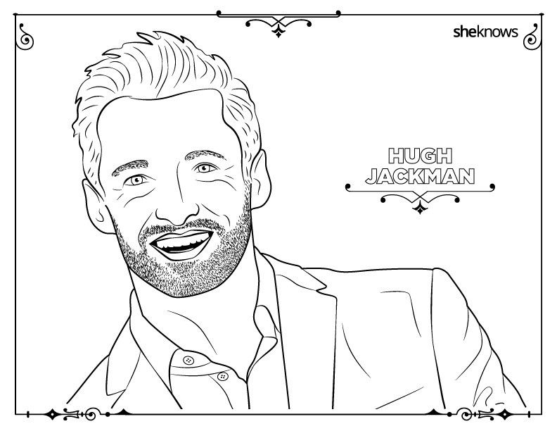 32 adult coloring book pages of Hollywood\'s hottest men (and they\'re ...
