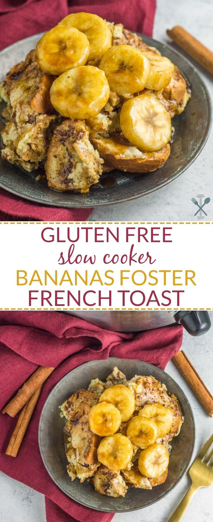 Gluten Free Slow Cooker Bananas Foster French Toast