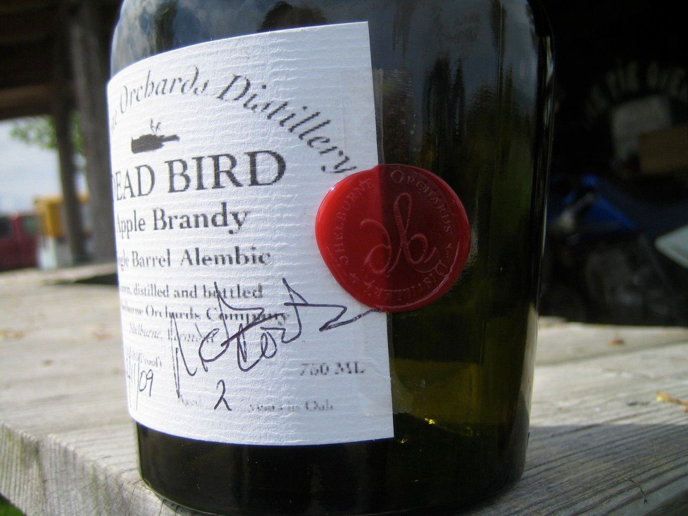 Dead Bird Brandy - Serial No. 2  Apple Brandy, a spirit we distill from hard cider, which we make from our very own apples!.  Shelburne Orchards Distillery uses hoga pot stills