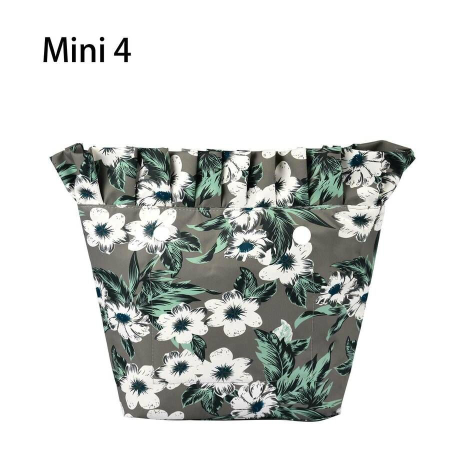 Tasca in materiale composito Twill con volant e inserto classico Mini tasca obag