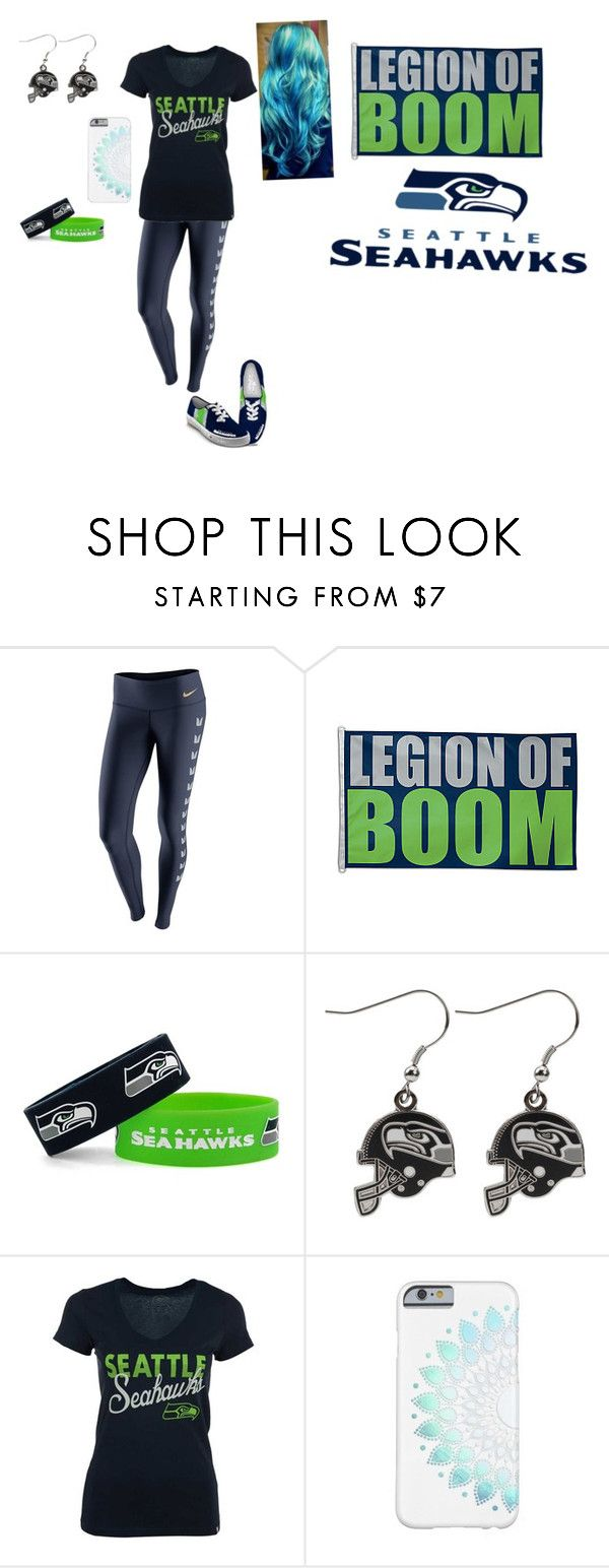 """""""Go SeaHawks! """" by wwedivas462 ❤ liked on Polyvore featuring NIKE, WinCraft, aminco and '47 Brand"""