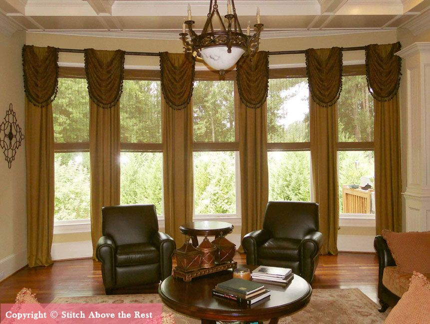 custom valances for bay window custom curtains ideas 11371 | 39f403207d11371f21651a8a772be7a7