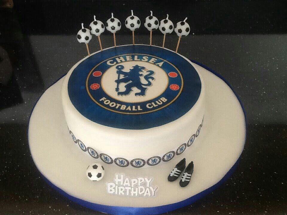 Fine Chelsea Football Birthday Cake Football Birthday Cake Sport Personalised Birthday Cards Veneteletsinfo