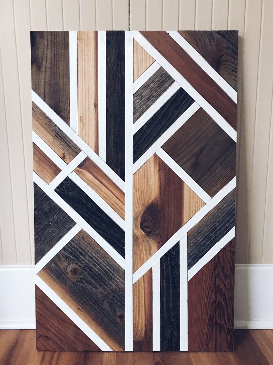 Reclaimed Wood Wall Art || The Eyre #woodworkingprojectschair