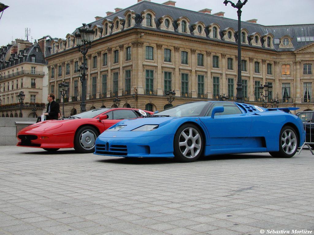 Bugatti Eb Ss And Jaguar Xj