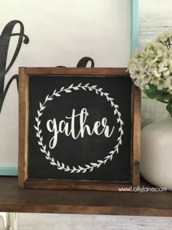 diy gather mini signs | minis, etsy and shopping