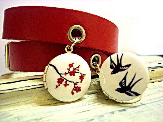 Double Wraparound Real Leather Bracelet With di VillaSorgenfrei
