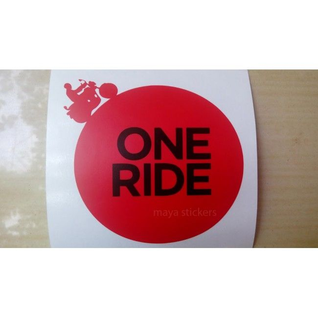 One Ride Sticker For Royal Enfield Bikes Custom Stickers Royal - Custom stickers for bikes
