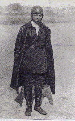 Bessie Coleman;  First female Black pilot in the world!