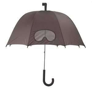 I have been in some storms that this would be seen as completely necessary and not just a novelty item.  Goggles Umbrella Gray, $24, now featured on Fab.