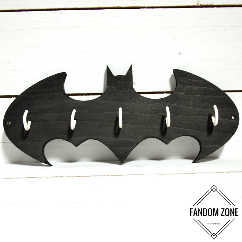 Handmade peg from plywood. Peg for keys or clothes. Something for fans of Batman :)