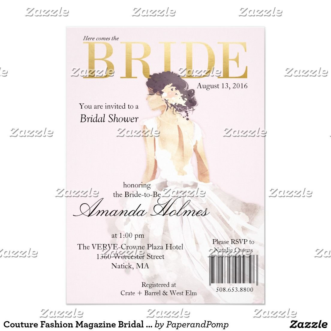 Celebrity Wedding Invites: Will You Be My Bridesmaid? Brunch & Bubbly Invitation