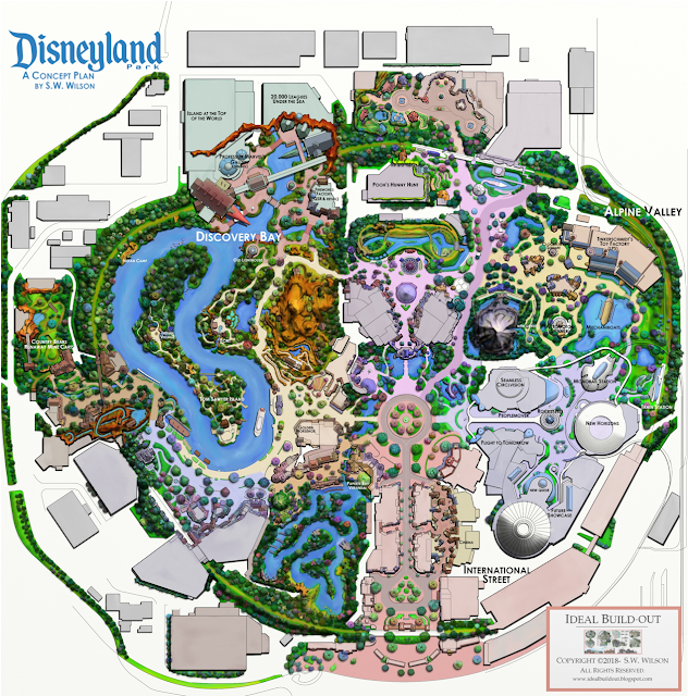 Fan Map Ft Discovery Bay Instead Of Star Wars Micechat Theme Park Planning Theme Park Map Parking Design