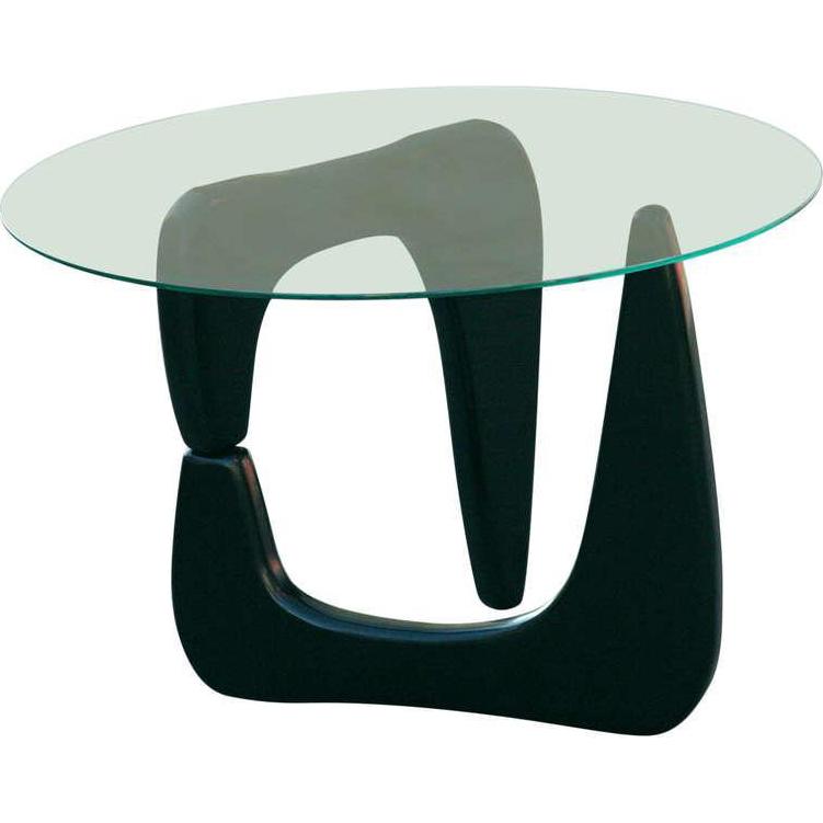Noguchi Style Black Lacquer Side Table Antique End Tables